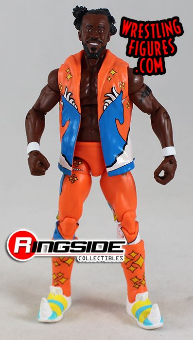 Loose WWE Elite 52 Mattel Toy Wrestling Action Figure Kofi Kingston