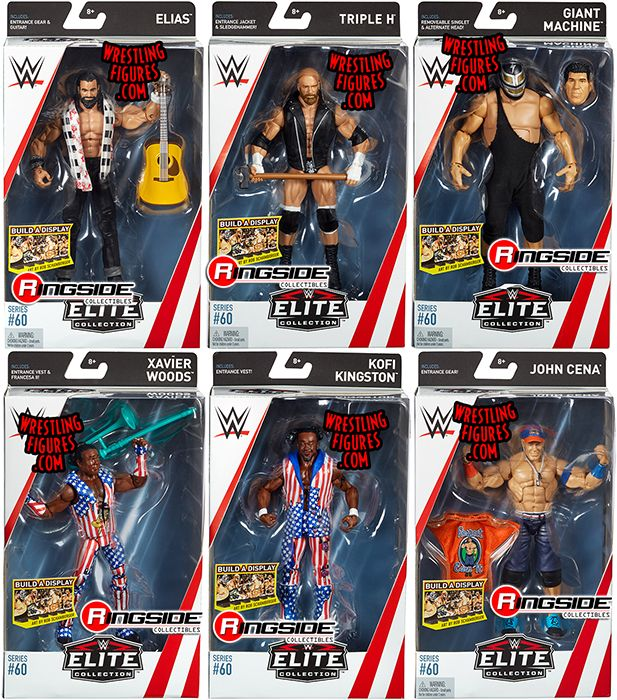 Wwe Elite 60 Toy Wrestling Action Figures By Mattel This
