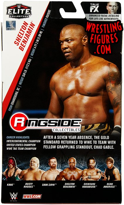 Shelton Benjamin Wwe Elite 63 Wwe Toy Wrestling Action Figure By