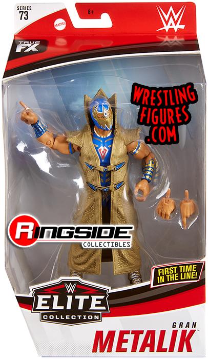 Gran Metalik WWE Elite 73 Toy Wrestling Action Figure Blue Gear