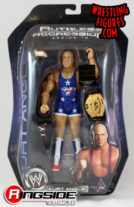 Kurt Angle 1 Of 500 Wwe Ruthless Aggression Series 19