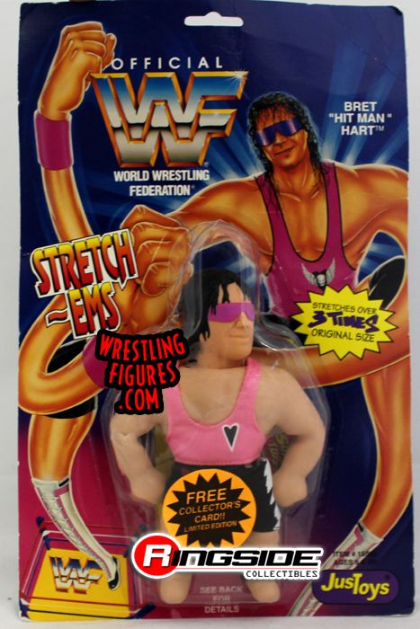 Bret Quot Hitman Quot Hart Wwf Stretch Ems Top Of Carding Is