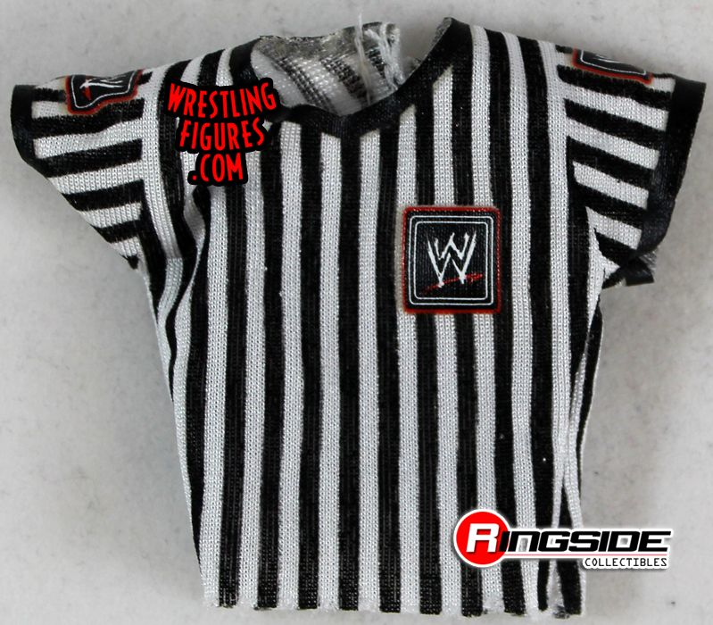 Set of 3 Wrestling REFEREE Action Figure Cloth Shirts