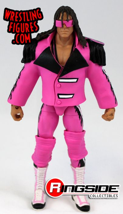 8f356d6adc Loose Figure - Pink   Black Attack - Bret Hart. WWE Toy Wrestling Action  Figure