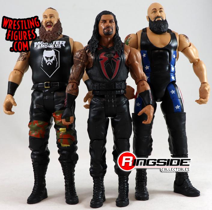 ROMANO Reigns BROCK LESNAR /& Braun strowman Set di 4 WWE Wrestling Figure Inc