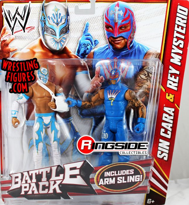 Folding Tables Kmart Sin Cara & Rey Mysterio - WWE Battle Packs 22   Ringside Collectibles