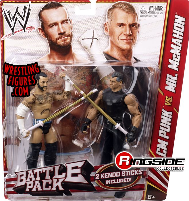 Cm Punk Amp Vince Mcmahon Wwe Battle Packs 23 Ringside