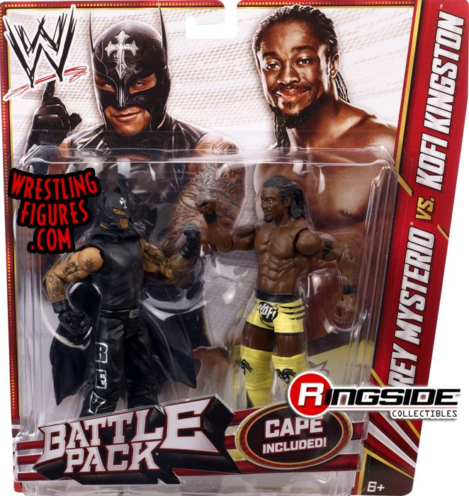 Mattel WWE Battle Packs 23 Rey Mysterio vs. Kofi Kingston!