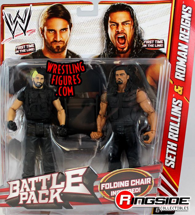 Mattel WWE Battle Packs 24 Roman Reigns & Seth Rollins!