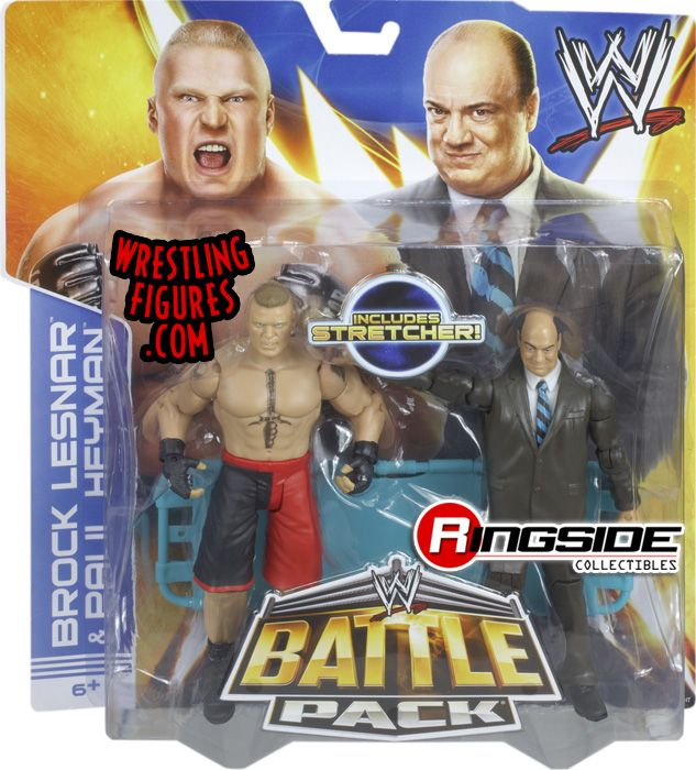Mattel WWE Battle Packs 25 Paul Heyman and Brock Lesnar!