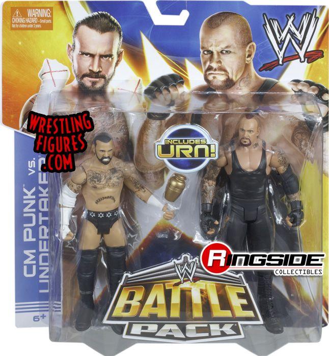 Cm Punk Amp Undertaker Wwe Battle Packs 25 Wwe Toy