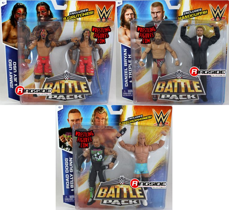 Wwe Battle Packs 32 Complete Set Of 3 Wwe Toy Wrestling