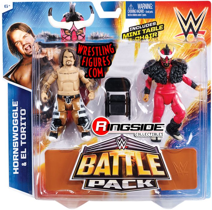 Hornswoggle & El Torito - WWE Battle Packs 34 WWE Toy Wresting Action Figures by Mattel