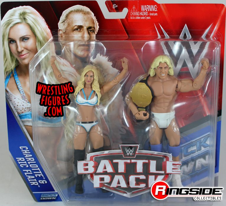 Charlotte Amp Ric Flair Wwe Battle Packs 41 Wwe Toy