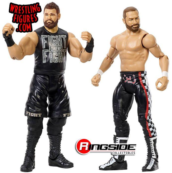 Sami Zayn Kevin Owens Series 44 WWE Action Figures NEW LOOSE Mattel Battle Pack