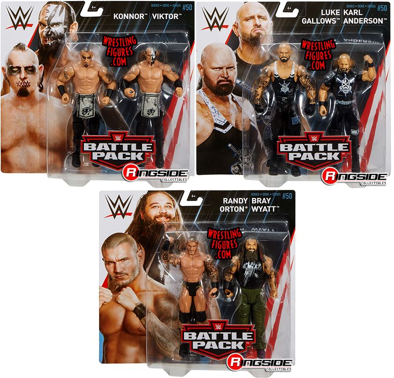 Wwe Battle Packs 50 Toy Wrestling Action Figures By Mattel
