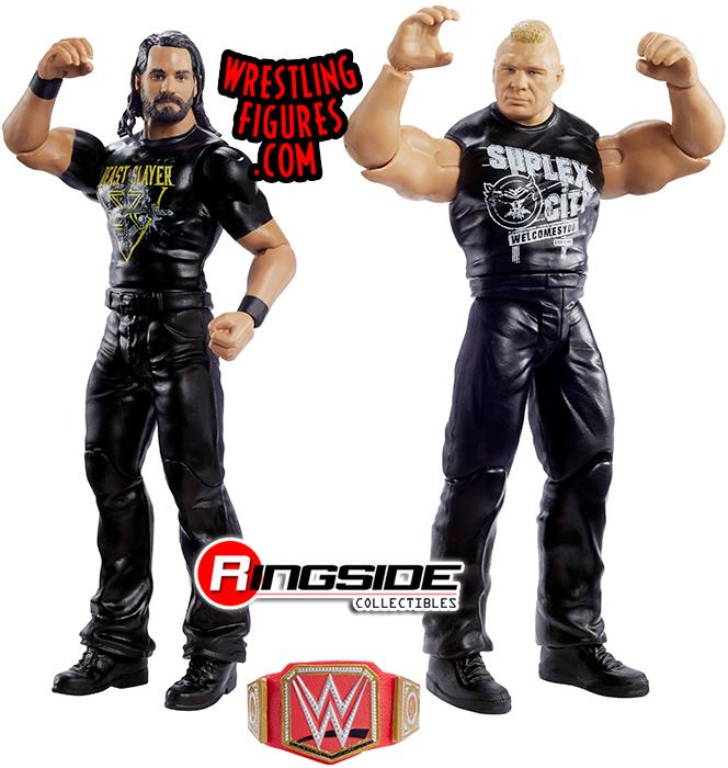 Seth Rollins /& Brock Lesnar-WWE Battle Packs 63 Mattel Toy Action Figures