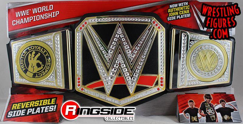 Wwe Championship W Reversible John Cena Side Plates Wwe