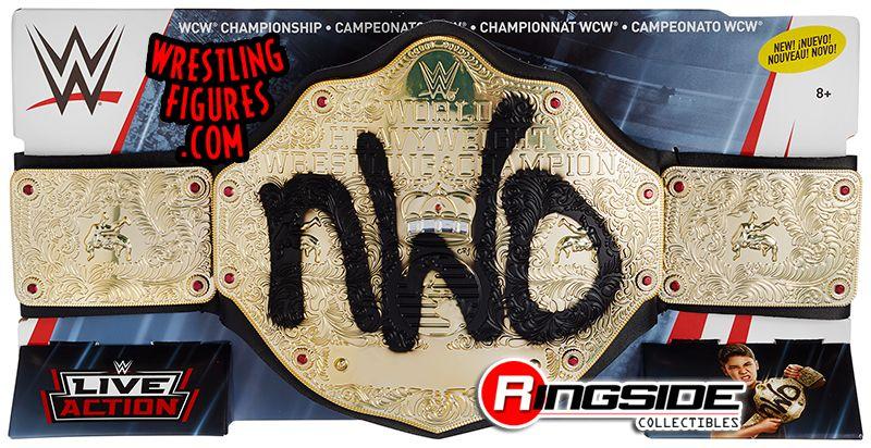 WWE Mattel Black Spray Painted NWO World Championship Belt For Wrestling Figures