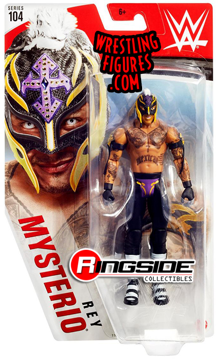 Rey Mysterio - WWE Series 104 WWE Toy Wrestling Action ...