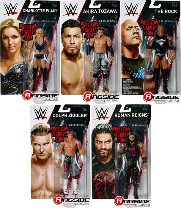 Wwe Series 86 Toy Wrestling Action Figures By Mattel This