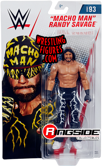 card non Menta Mattel WWE Basic Serie 76 Macho Man Randy Savage