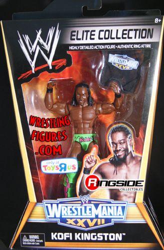 Kofi Kingston Wrestlemania 27 Elite Exclusive Ringside