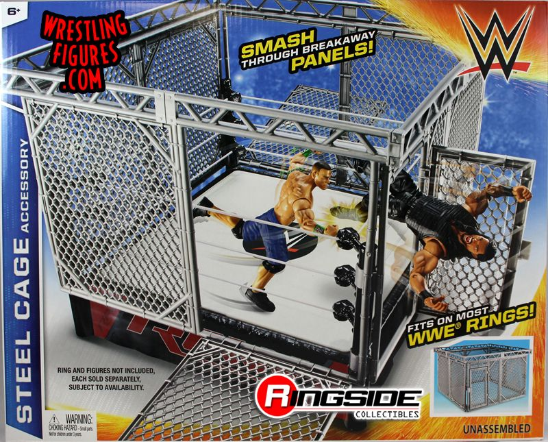 Wwe Mattel Steel Cage Accessory Fits Small Rings