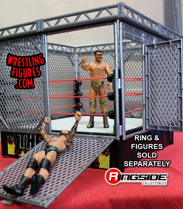 Mattel WWE Steel Cage Accessory in action!