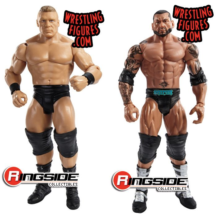 Mattel WWE WrestleMania XXX Battle Packs Brock Lesnar vs. Batista!