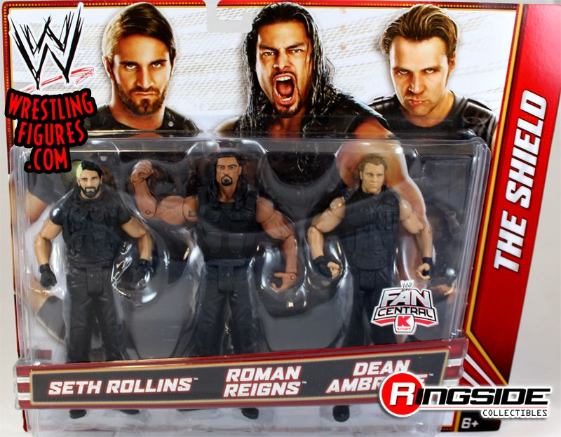 The Shield 3-Pack Exclusive (Roman Reigns, Dean Ambrose & Seth Rollins ...