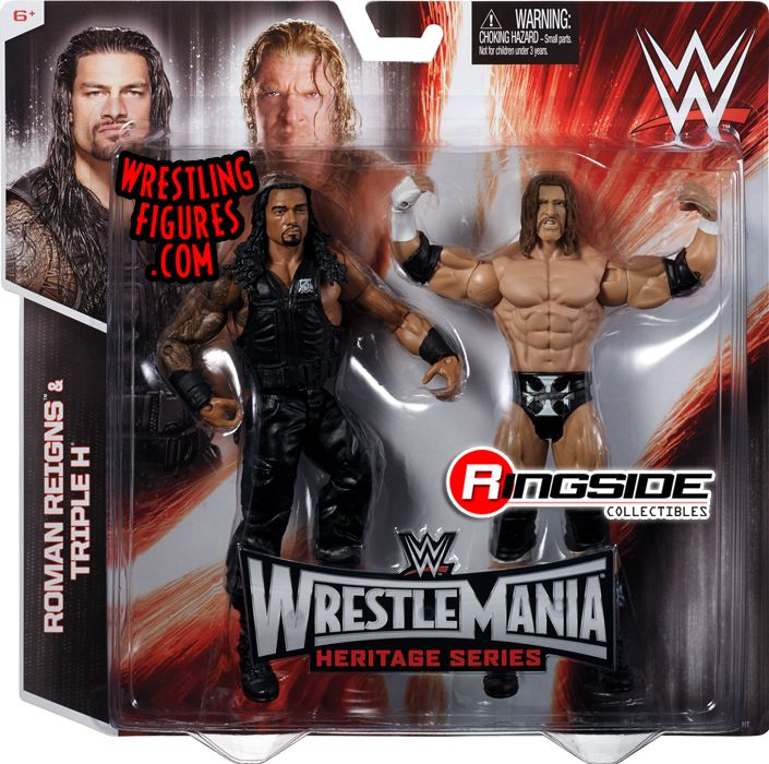 Roman Reigns Amp Triple H Wwe Battle Packs Quot Wrestlemania