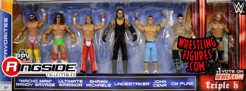 Wwe Fan Favorites 7 Pack Exclusive Ringside Collectibles