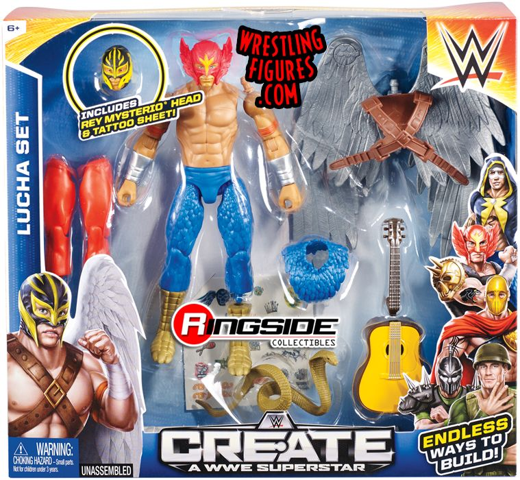 Rey Mysterio Lucha Wwe Create A Superstar Large Pack