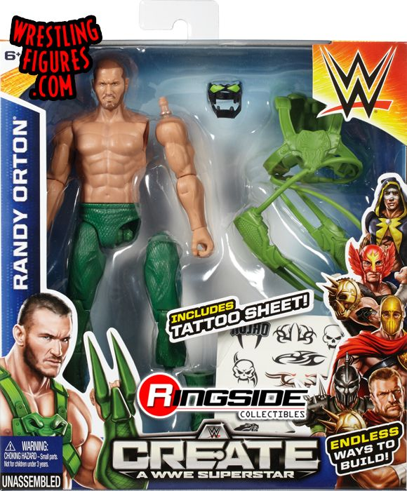 Randy Orton (Viper) - WWE Create-A-Superstar (Small Pack) WWE Toy ...