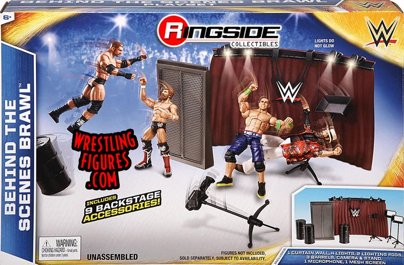 Behind The Scenes Brawl Accessory Playset For Wwe Toy