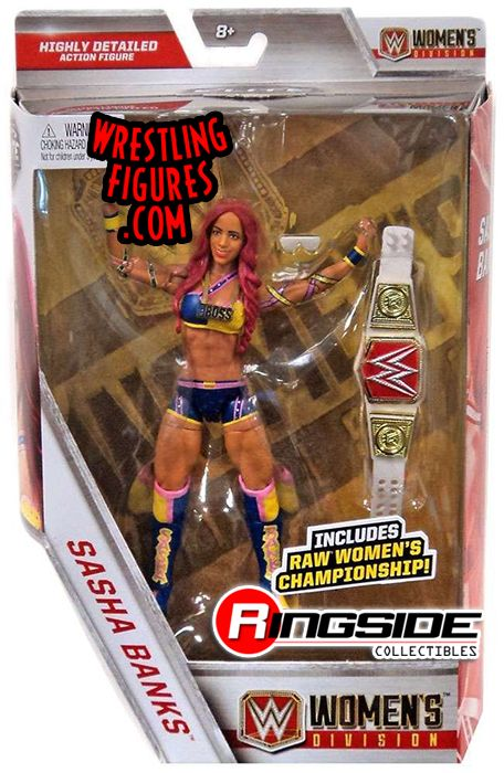 Sasha Banks W Raw Women S Title Exclusive Wwe Toy
