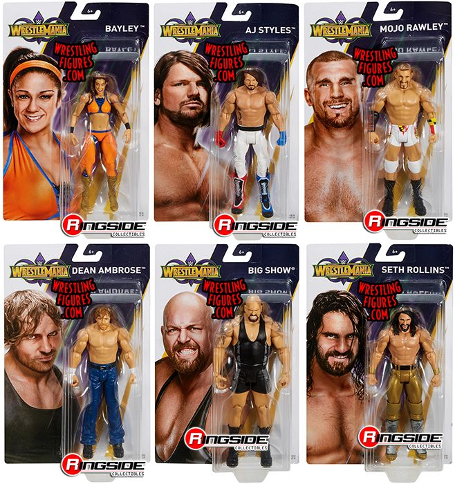 Image result for wrestlemania 34 mattel basic ambrose