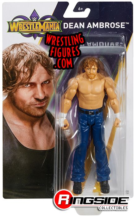 WWE Dean Ambrose MATTEL BASIC WRESTLEMANIA 34 SERIE wrestling action figure