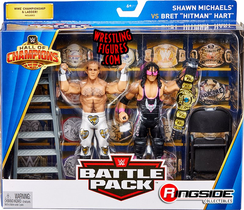 Shawn Michaels Bret Hitman Hart Wwe Hall Of Champions 2 Pack Wwe Toy Wrestling Action Figures By Mattel