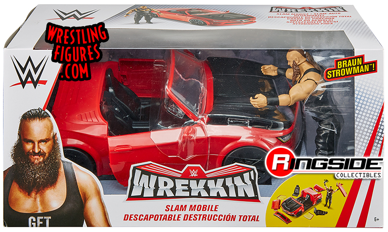 Wrekkin Slam Mobile W Braun Strowman Figure Wwe Toy