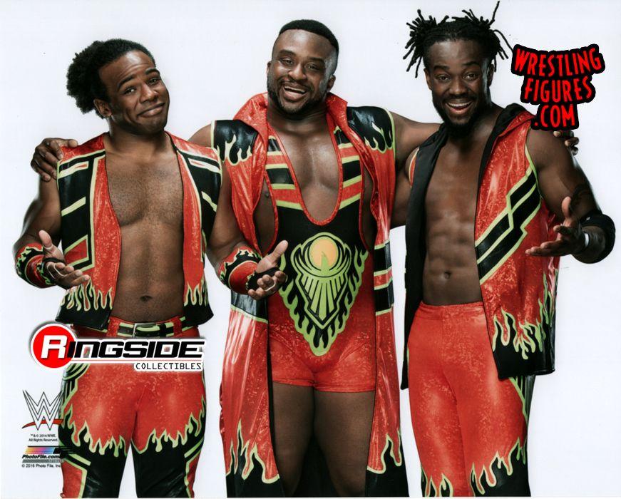 New Day Kofi Kingston Big E Xavier Woods Wwe Wrestling 8x10 Color Photo