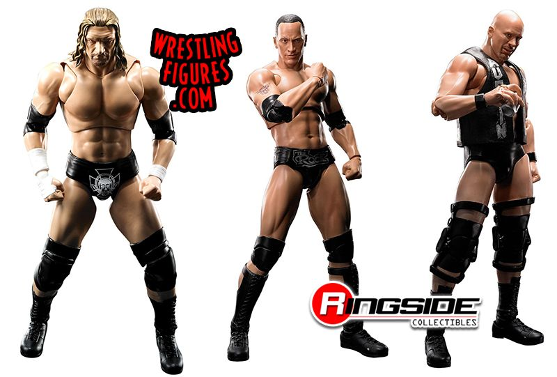 Package Deal Triple H Hhh The Rock Amp Stone Cold Steve