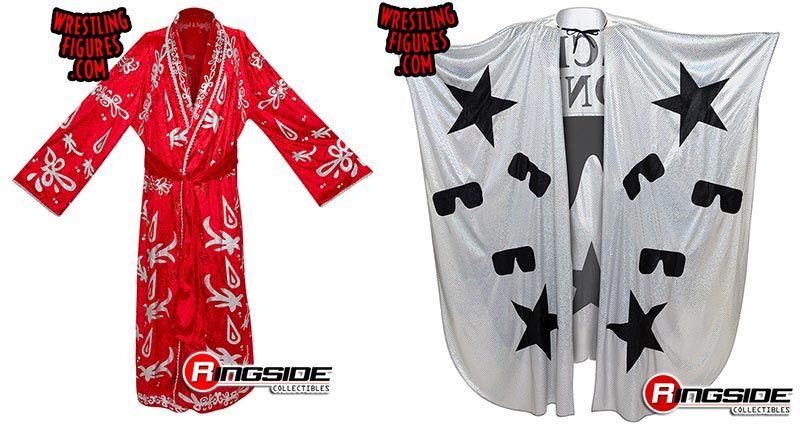 WWE Red Robe W// Stars Accessory Jakks Mattel Figure Clothes
