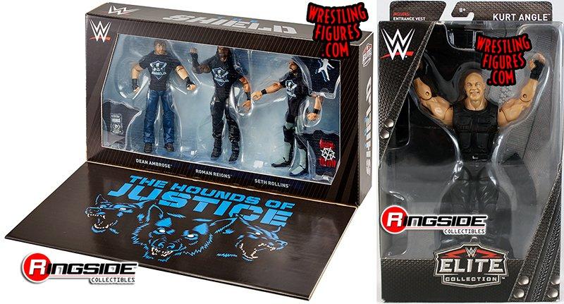 3 WWE Mattel Elite Shield Reunion Hounds of Justice Figure Custom Shirts