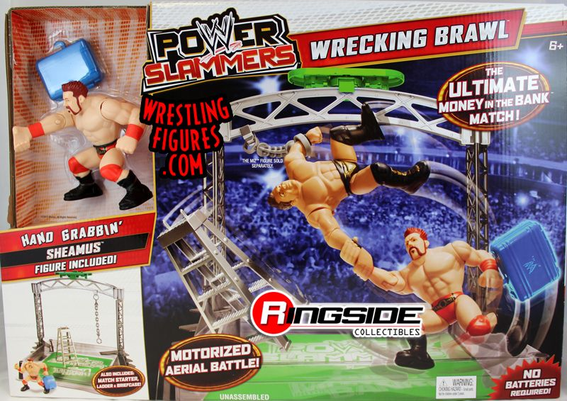 Mattel WWE Power Slammers Wrestling Ring. 2 for 1