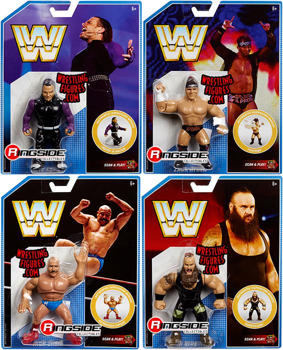 Wwe Retro Series 8 Figures Set Of 4 Wwe Toy Wrestling