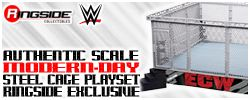 Wicked Cool Toys WWE Modern-Day Steel Cage Playset w/ ECW & Extreme Rules Ring Skirts!