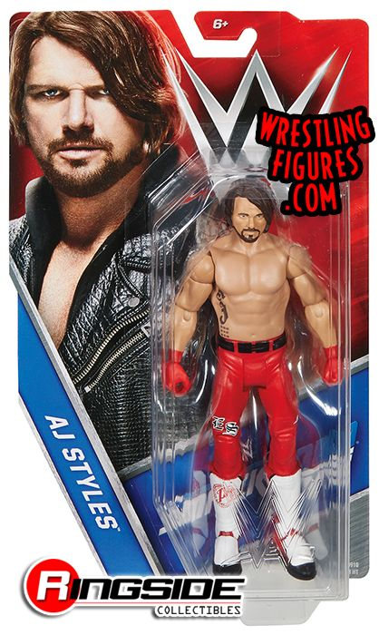 Aj Styles Red Attire Wwe Special Edition Exclusive Wwe