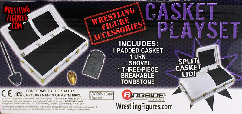 Casket Playset (White w/ Black Padding) - Ringside Collectibles